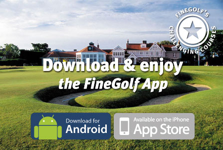 buy the finegolf app, win green fees, finest golf courses