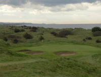 The 9th green