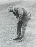 James Braid putting at Pennard, finest courses