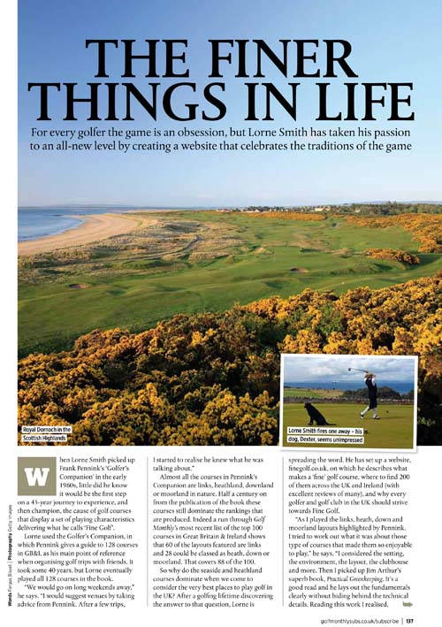 golf monthly finegolf article,
