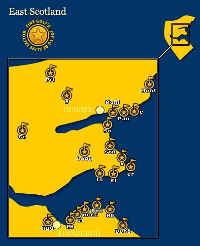 East Scotland Map