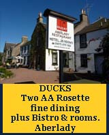 fine dining at Ducks, ducks aberlady,