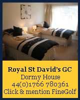 dormy house royal st david's golf club
